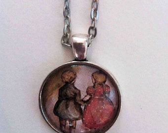 Hansel and Gretel pendant