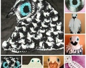 PDF  Who Who Hat  or Scodie Crochet Pattern Only