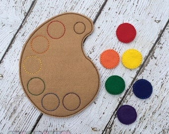 Paint Pallet Color Match Learning Game