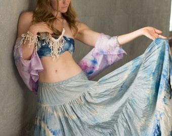Blue Moon Silk Skirt
