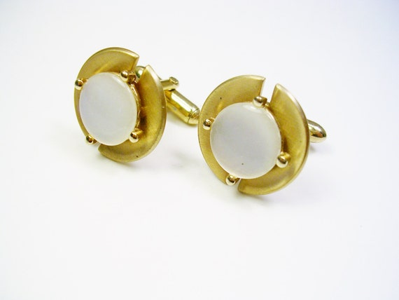 Swank cufflinks gold tone inlaid acrylic men 39 s for What is swank jewelry