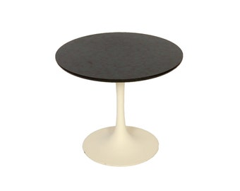 Tulip Based Side Table with Marblized Top 1970 Eero Saarinen Burke