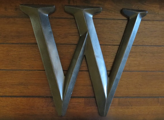 Letter w pick your own letter wall letter oil rubbed bronze for Oil rubbed bronze letters