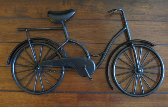 Metal Wall Decor Bicycle : Bike wall decor pick your color bicycle metal by