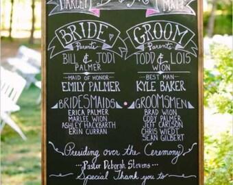 Wedding chalkboards | Etsy