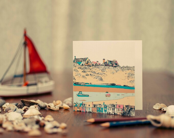 Art / Greeting Card - Alnmouth, Northumberland.