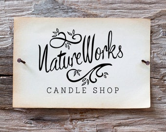 Custom Logo - Candle Shop Logo