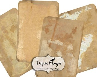 old shabby paper digital collage sheet worn tattered 6x4 inch printable background torn vintage digital paper for scrapbooking and crafts