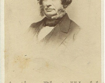 Young Henry Wadsworth Longfellow poet antique CDV photo