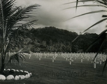 Philippines military cemetery antique photo
