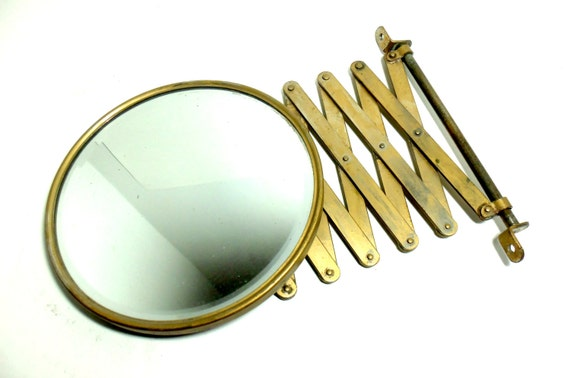 Mirror Beveled Shaving Accordion Mirror Wall Mount Accordion