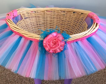 tutu sweet cotton candy tutu basket tutu gift basket tutu baby shower basket