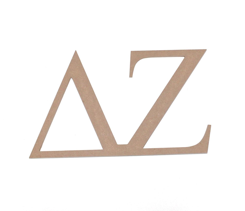 Delta zeta sorority wooden letters paintable by mossijossi for Buy wooden greek letters