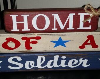 Home of a Soldier - Primitive Block Set