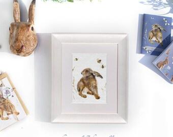 Hare print, bee print, hare and bee print