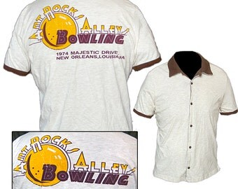 Bowling Shirt / Kitsch Shirt / Rockabilly Shirt / Lounge Shirt
