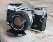 Working Vintage Olympus OM-2 35mm SLR Film Camera with 50mm Lens