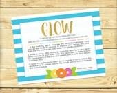 Glow Mini-Facial Card, Quatrefoil Design - DIGITAL FILE