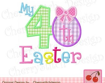 """My 4th Easter Machine Embroidery Applique Design - 4x4 5x5 6x6"""""""