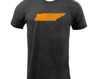 Distressed Tennessee State Shape - Tri Black