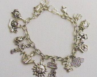 In the Garden Charm Bracelet, Gardening Charm Bracelet, Gardner Gift, Gift for Her, Girlfriend Gift