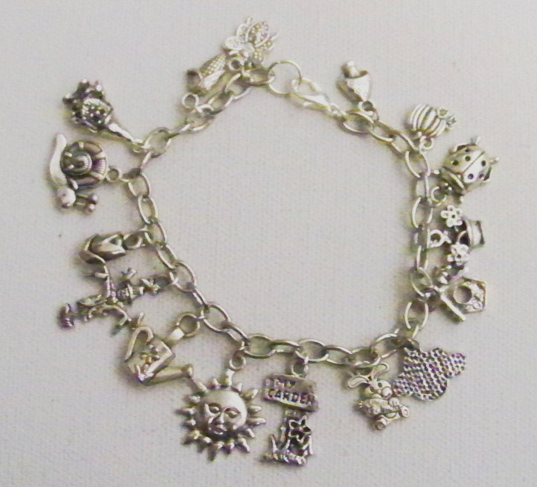 Garden Charms: In The Garden Charm Bracelet Gardening Charm Bracelet