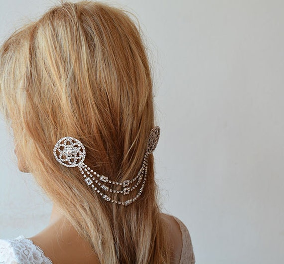 Wedding Hair With Rhinestone Headband : Wedding hair accessory bridal headbands rhinestone