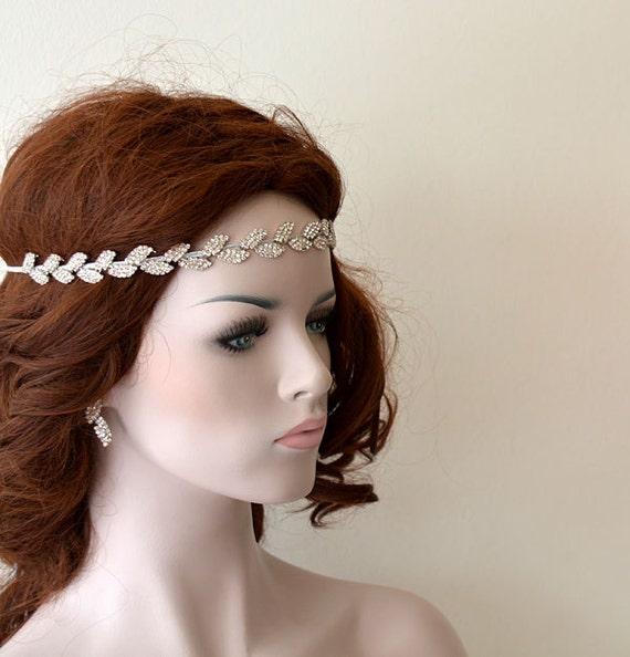 Wedding Hair With Rhinestone Headband : Bridal hair accessory rhinestone headband wedding by