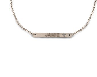 "Custom Nameplates - 1.25"" with 2mm Swarovski crystal"