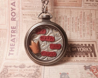 "Alice in Wonderland ""Off With Her Head"" Necklace"