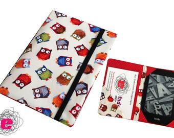e-reader pouch, sleeve for ebookreader, owls