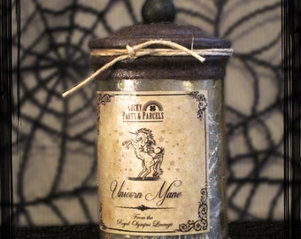 Unicorn Mane - Pre-Made Witches Apothecary Bottle
