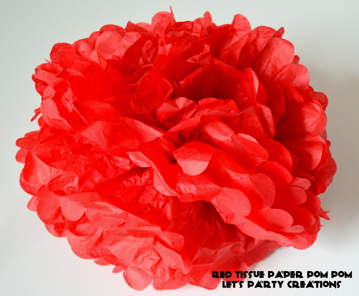 red tissue paper pom pom wedding decorations by. Black Bedroom Furniture Sets. Home Design Ideas