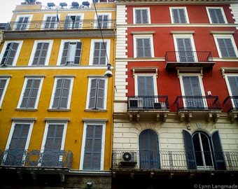 "Rome Photography - buildings rome via condotti 8x10 prints orange red travel photography 11x14 16x20 5x7 rome wall decor ""The Color of Rome"""
