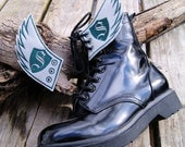 Harry Potter Slytherin Shield - Embroidered Shoe Wings - MTCoffinz