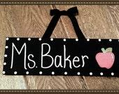 Teacher's Name Desk Sign Door Hanger Class Name Plate