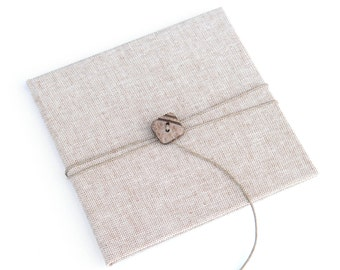 Rustic CD/DVD Case Canvas with button and string