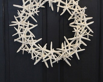 Floating Starfish Wreath 20-24 inches Nautical Seashell Beach Decor