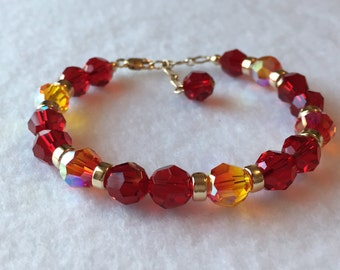 Empowered! Gold - Therapeutic Sacred Energy Infused Swarovski Crystal Healing Bracelet by Crystal Vibrations Jewelry