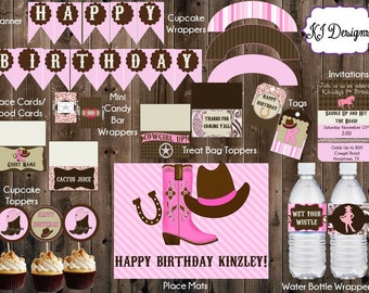 Cowgirl Birthday Party Printable