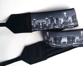 Los Angeles Downtown Skyline Camera Strap. Camera Accessories