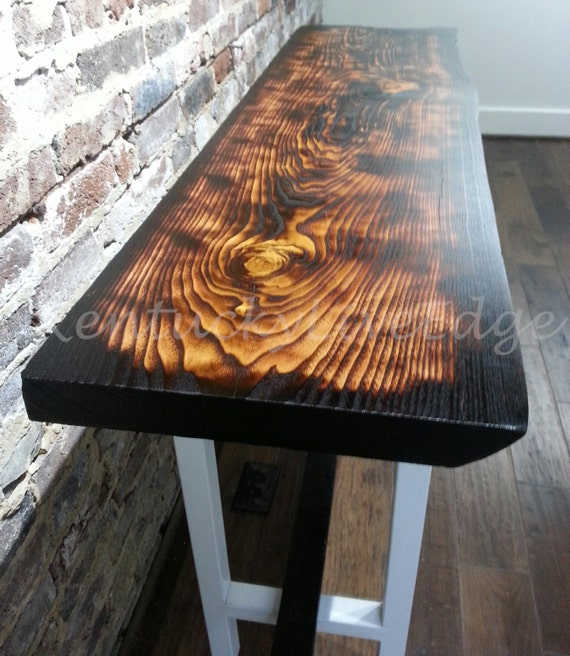 Plank Coffee Table Tree: Modern Console Table Live Edge Console Table By