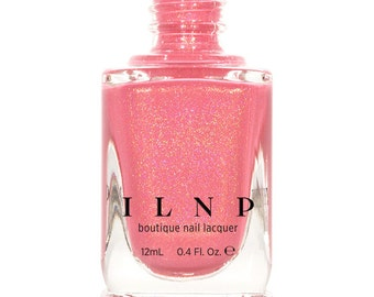 Cutie Pop - Rosy Pink Holographic Nail Polish