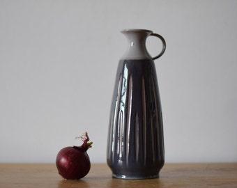 Vintage Danish - pitcher vase - BR keramik pottery - midcentury