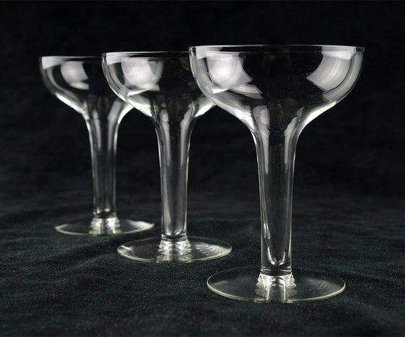 Vintage hollow stem champagne coupe by therealmcollectibles - Hollow stem champagne glasses ...
