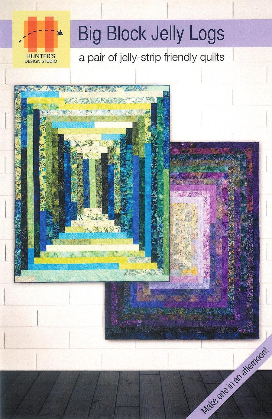 Pattern Big Block Jelly Logs Twin Quilt Paper