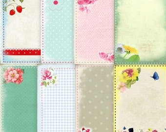 Pretty Spring Summer Cards Background Papers Printable Download