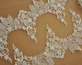 bridal lace trim in crochet deisign 2 yards