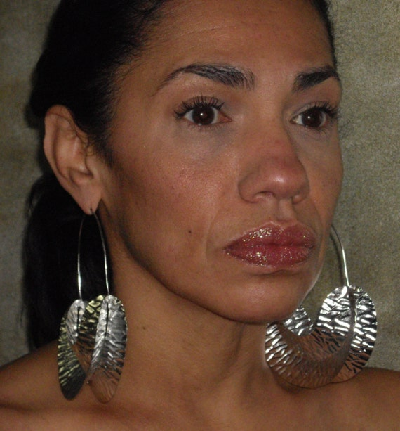 Fulani Earrings: Large Silver Fulani Earrings
