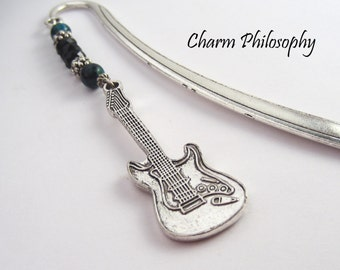 Guitar Bookmark - Custom Beaded Bookmark - Gifts for Music Teachers - Gifts for Musicians